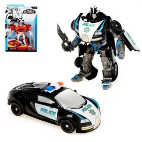 Робот-трансформер «Полицейский», цвет чёрный
