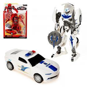 Робот «Полицейский», трансформируется, цвет белый