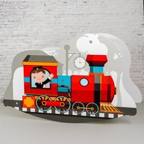 Игрушка из дерева «Детская качалка-паровозик» 7×77×50 см