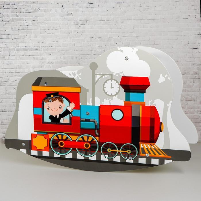 Игрушка из дерева «Детская качалка-паровозик» 7×77×50 см - фото 76255846