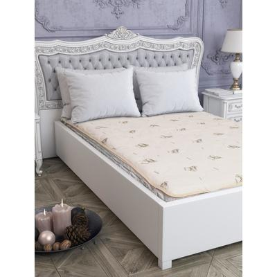 The mattress pad on the elastic band 80 cm x 200 cm, polyester 160g/m2, PE 100%