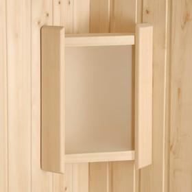 Абажур деревянный угловой, белое стекло