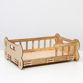 """Кроватка-лежанка (для маленьких пород собак и кошек) """"Косточка"""", 51х39х19 см"""
