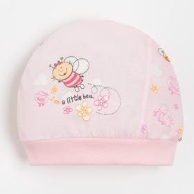 """Чепчик """"Пчелы"""" А.3-567, цвет розовый, рост 74 см"""