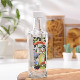 250 ml olive oil bottle with push-button spray