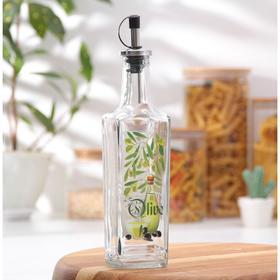 Бутылочка для оливкового масла со специями 250 мл, с металлическим дозатором