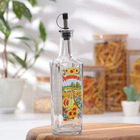 Бутылочка для подсолнечного масла 250 мл, с металлическим дозатором