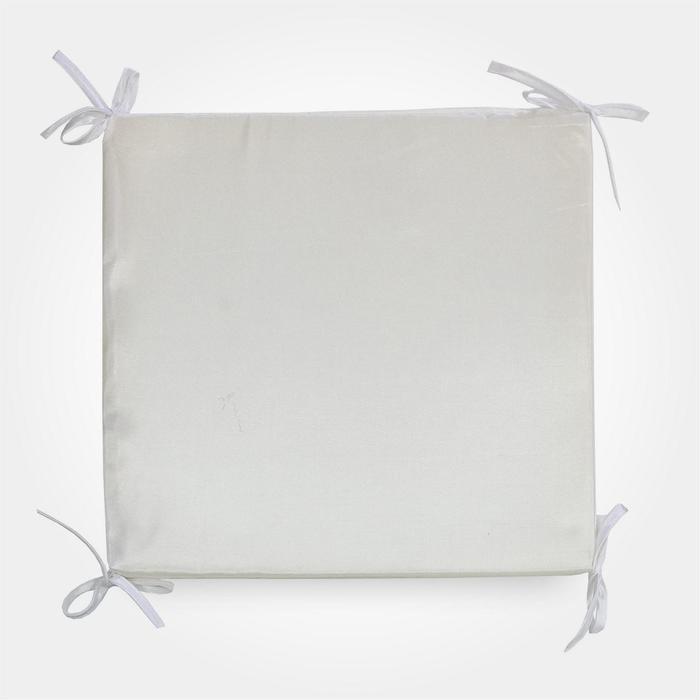 Сидушка на табурет квадратная, 34х34х1,5 см, цвет жемчуг - фото 878357