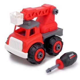 Конструктор винтовой» Пожарный транспорт», с малым подъёмником