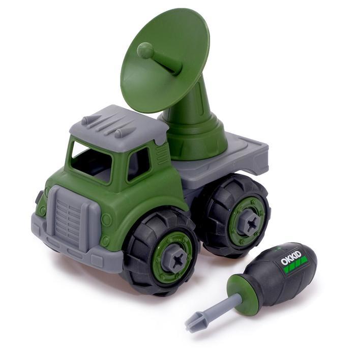 Конструктор винтовой» Военный транспорт», с радаром - фото 105577301
