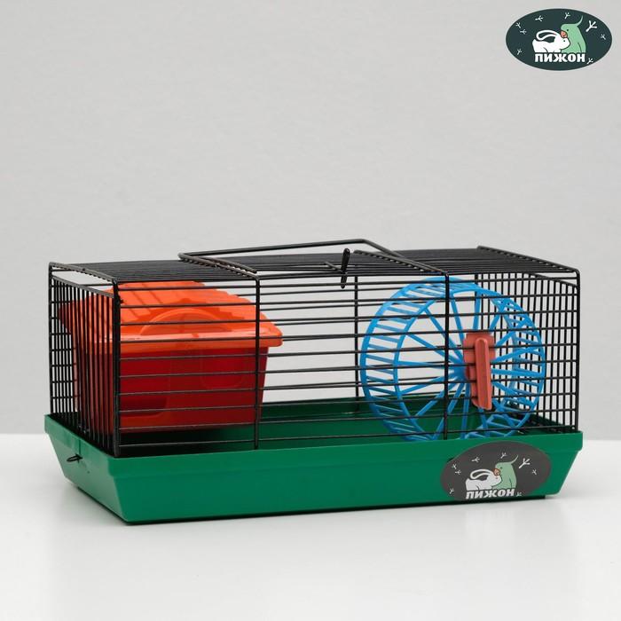 """Клетка-мини для грызунов """"Пижон"""" №1, укомплектованная, 27 х 15 х 13 см, изумрудная"""