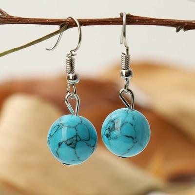 "Circle earrings ""Turquoise"""