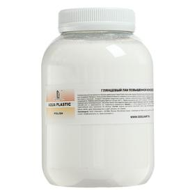Acrylic varnish water base glossy 800ml for soft surfaces LUXART Aqua Plastic P9V800