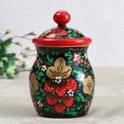 """Bank of bulk products, """"Khokhloma"""", 16cm, hand-painted"""