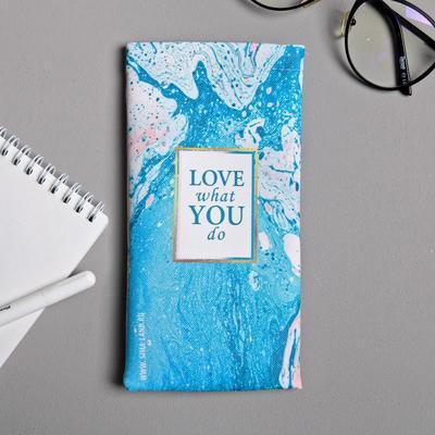 Case eyeglass leather.Zam Do what you love, 9 x 18.5 cm