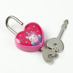 Замочек для чемодана с ключами «Единорог» - фото 1786892