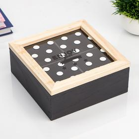 "Box tree with divisions of ""White dots"" 7х17х17 cm"