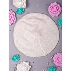 Берет для девочки А.00-0016217, цвет молочный, р-р 53-56 см (6-10 лет)
