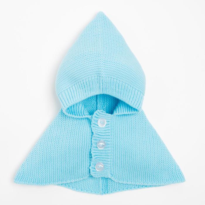 Капор для мальчика, цвет голубой, размер 47-50 см (1, 5-3 года) - фото 105567185
