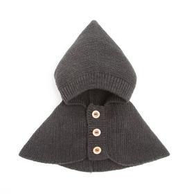 Шлем (Капор) для мальчика А.00-00010319, цвет графит, рамер 47-50 см (1,5-3 года)