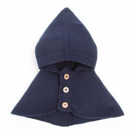 Шлем (Капор) для мальчика А.00-00010325, цвет т.синий, р-р 47-50 см (1,5-3 года)