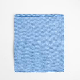 Шарф (Снуд) детский А.00-0017543, цвет голубой, р-р 22*24 см