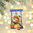 "Pendant on the Christmas tree ""Snow year,"" 9.8 x 12.5 cm"