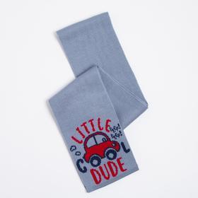 Шарф для мальчика, цвет серый, размер 134х13