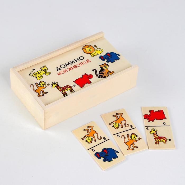 """Деревянная игрушка """"Веселое домино"""" в ассортименте"""
