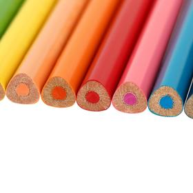 Карандаши 12 цветов Maped Pulse Jumbo, пластиковые, европодвес - фото 7386740