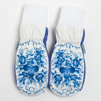 Варежки для девочки, цвет молочный, размер 14