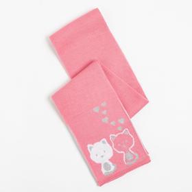 Шарф детский, цвет розовый, размер 134х13