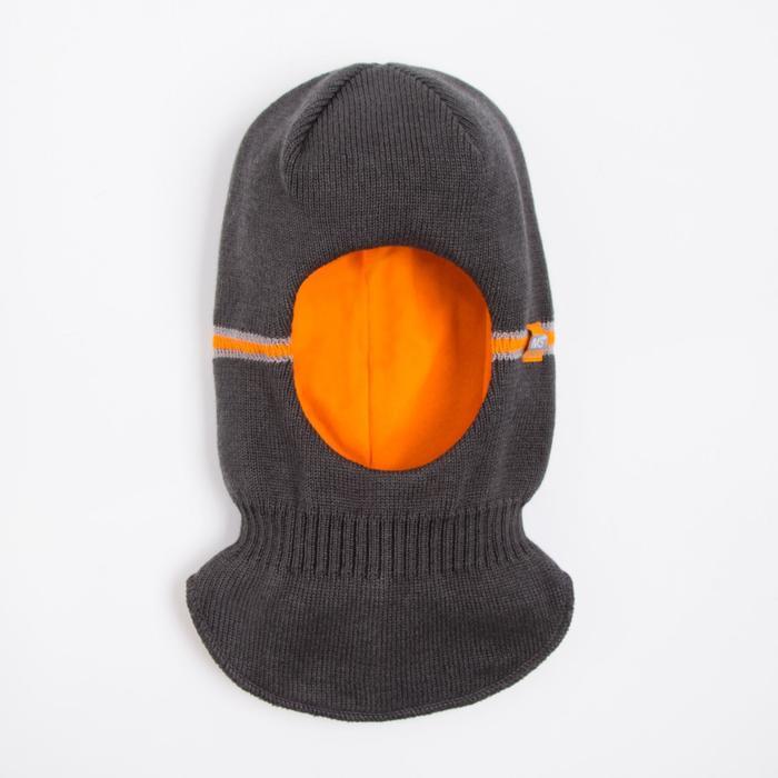 Шлем-капор детский, цвет графитовый, размер 50-52 - фото 76365014