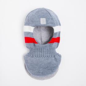 Шлем- капор детский, цвет джинс, размер 50-52