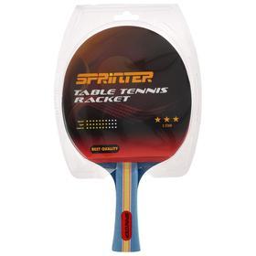 Ракетка для игры в настольный тенис Sprinter 3***, для опытных игроков