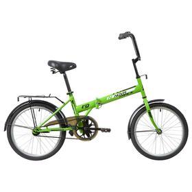 """Велосипед 20"""" Novatrack TG30, 2020, 1ск., цвет салатовый"""