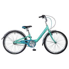 """Велосипед 24"""" Novatrack Ancona, 2020, 3 скорости, цвет зеленый"""