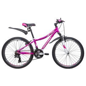 """Велосипед 24"""" Novatrack Katrina, 2020, цвет фиолетовый, размер 12"""""""