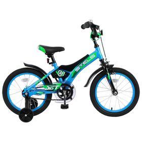 """Велосипед 16"""" Stels Jet, Z010, цвет голубой/зеленый"""