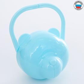 """Футляр для детской пустышки """"Мишка"""", цвет голубой"""
