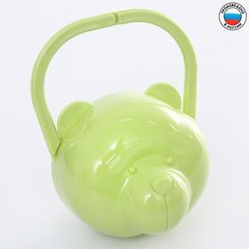 """Футляр для детской пустышки """"Мишка"""", цвет салатовый"""