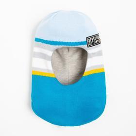 Boy's helmet-hood, a.20115, turquoise color, size 54-56