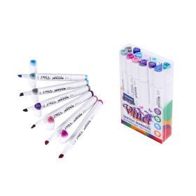 Набор двухсторонних маркеров для скетчинга Mazari Vinci, Lavander colors (лавандовые цвета), 12 цветов