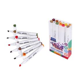 Набор двухсторонних маркеров для скетчинга Mazari Vinci, Forest colors (цвета леса), 12 цветов