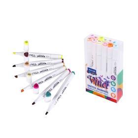 Набор двухсторонних маркеров для скетчинга Mazari Vinci, Pastel colors (пастельные цвета), 12 цветов