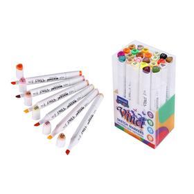 Набор двухсторонних маркеров для скетчинга Mazari Vinci, Autumn colors (цвета осени), 24 цвета