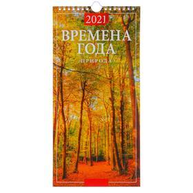 """Календарь настенный перекидной, на ригеле """"Времена года"""" 2021 год, 16,5х33,6 см"""
