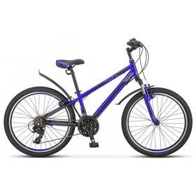 """Велосипед 24"""" Stels Navigator-440 V, K010, цвет серебристый/синий, размер 12"""""""