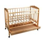 Детская кроватка «Женечка-2» на колёсах, с ящиком, цвет натуральный