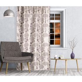 Штора портьерная Блэкаут «Blossom» размер 140х260 см, цвет серый